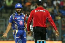 IPL 2017: Rohit Sharma Reprimanded for Showing Dissent