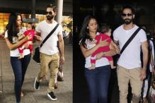 Shahid Kapoor, Mira Rajput Snapped With Baby Misha At The Airport