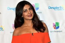 Priyanka Chopra on the sets of 'Despierta America'