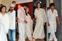 Aishwarya, SRK, Aamir & Other Stars Attend Vinod Khanna's Prayer Meet
