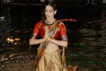 Kangana Ranaut at poster launch of 'Manikarnika: The Queen of Jhansi' in Varanasi