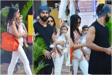 Shahid Kapoor And Wife Mira Step Out For Lunch Date With Daughter Misha, See Pics