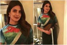 Priyanka Stuns In A Saree With Hand-Painted Tiger Blouse For UNICEF's Event