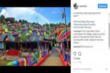 Indonesian Slum Becomes Instagram Hit Thanks to Rainbow Makeover