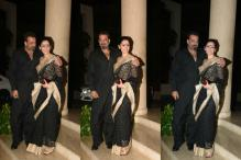 Sanjay Dutt, Manyata Make a Lovely Couple As They Party With Bhoomi Cast