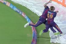 Ben Stokes Knocks off Captain Steve Smith in Nasty Mid-air Collision