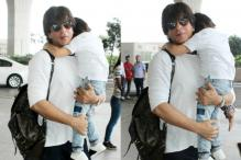 SRK Racing With Son AbRam Is The Cutest Thing You'll See Today