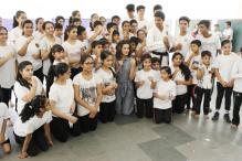 Taapsee Pannu Receives A Warm Welcome While Visiting Her School