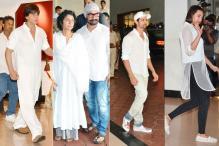 Shah Rukh Khan, Aamir Khan, Hrithik Roshan, Sonakshi Sinha at Vinod Khanna's prayer meet