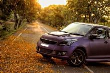 Maruti Suzuki Swift Modified With Matte Purple Wrap and Sporty Body Kit