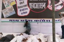 Congress Performs Shavasana to Protest Farmers' Killing