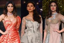 Huma Qureshi, Shilpa Shetty, Aditi Rao Hydari at India Couture Week 2017