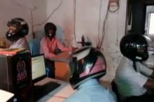 Why Staff of This Bihar Govt Office Wear Helmets at Work
