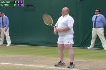 Kim Clijsters Gets Loudmouth Fan to Wear Skirt & Face Serve