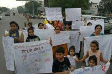 TCS Employees Hold Silent March Protest in Lucknow