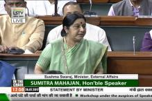 Parliament Live: To Declare Anyone dead Without Proof is a Sin, Says Sushma