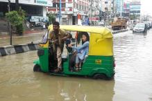 Heavy Rainfall Clogs Bengaluru on Independence Day
