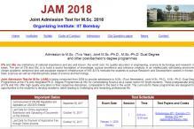 IIT JAM 2018 – Notification Released, Online Application Starts on September 5 at jam.iitb.ac.in