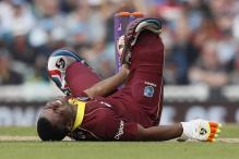 Lewis Slams 176 Versus Eng; But Bizarre Injury Cuts Short His Innings