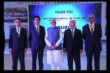 PM Modi and Shinzo Abe Inaugurates Suzuki's New Gujarat Plant Units