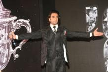 Ranveer Singh Looked Suave in a Monochrome Pinstripe Suit at a Recent Event