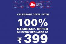 Reliance Jio Dhan Dhana Dhan Diwali Offer: 100 Percent Cashback on Every Recharge of Rs 399