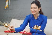 Tamannaah Bhatia's Diwali Celebration at Home