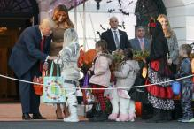 Donald Trump, First Lady Melania Welcome Ghosts, Goblins on Halloween Eve