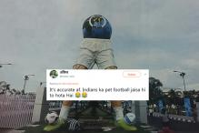 Mamata Banerjee Designed This FIFA Sculpture And Twitter Can't Handle It