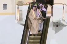 Saudi King's Glittery Golden Escalator Stopped Midway And It was Awkward