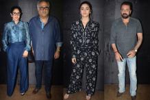 Alia Bhatt, Sanjay Dutt and Sridevi at 'Secret Superstar' Screening