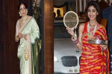 From Shilpa Shetty Kundra To Sridevi, Celebrities Who Wowed In Traditional Attires