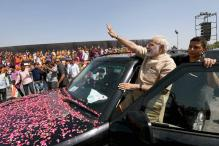 PM Modi 'Bows' to People of Gujarat Ahead of Mega Rally in Gandhinagar