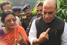 UP Civil Polls: Rajnath Singh, Dinesh Sharma Cast Votes in Second Phase