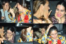 Kareena-Karisma, Malaika-Amrita Have a Giggle Fest Enroute To Manish Malhotra's Party