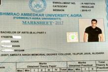 Agra University Publishes Marksheets With Salman, Rahul Gandhi's Photos