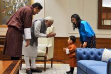 When Prime Minister Narendra Modi Gifted Bhutan's Prince a Football