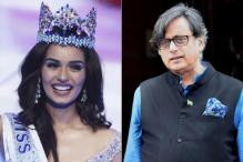 After tweet on Manushi Chhillar, 'Chill' Apology Lands Tharoor in Trouble