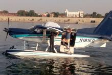 Narendra Modi Takes 'First-Ever' Seaplane Flight for Campaigning