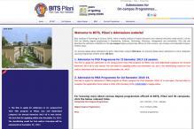 BITSAT 2018 Online Application Process Begins Today at bitsadmission.com