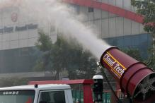 In Pictures: Trial Run of an 'Anti-Smog Gun' to Fight Air Pollution