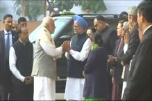 PM Modi, Manmohan Singh Shake Hands at Parliament After Severe War of Words