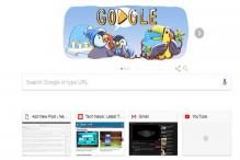 December Global Festive Season Being Celebrated by Google With a Doodle