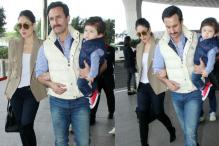 Kareena, Saif Head To Pataudi Palace With Taimur To Ring In His First Birthday