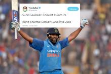 Twitter Erupts With Jokes As Rohit Sharma Hits his Third ODI 200