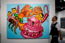 Donald Trump Beats North Korea's Kim, Sort of, at Art Basel in Miami Beach