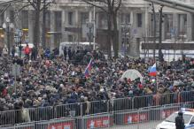Russian Police Detain Opposition Leader Alexei Navalny at Protest