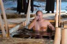 Putin Takes Dip in Icy Lake to Mark the Baptism of Jesus Christ