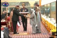 Emotional President Presents Ashok Chakra to Widow of Garud Commando Martyred During J-K Encounter
