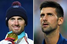 Seeing Double — Novak Djokovic Cheers Lookalike Olympic Winner